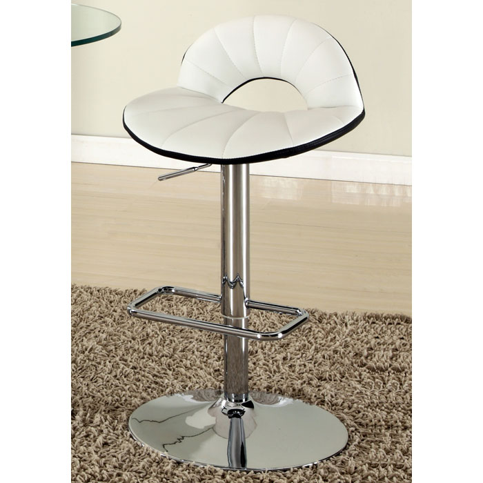 Dorothy Contemporary Swivel Stool - Adjustable Height, Chrome - CI-0628-AS