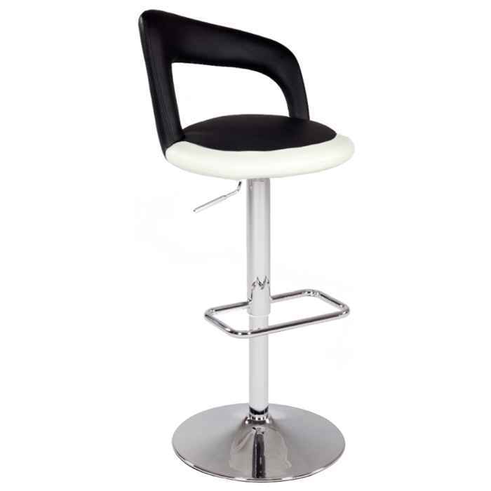 Chantal Two Tone Swivel Stool - Adjustable Height