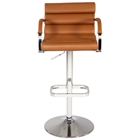 Naima Contemporary Swivel Stool - Adjustable Height, Armrests
