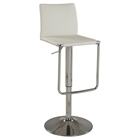 Adjustment Height Stool - Low Back, White