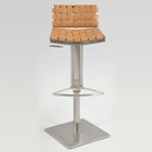 Geryon Adjustable Height Stool with Woven Back and Seat
