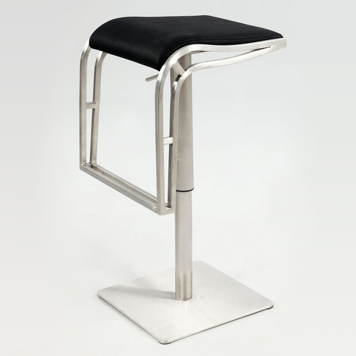 Delphin Contemporary Backless Adjustable Height Stool - CI-0897-AS