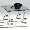 Frost Glass Caster Lamp Table