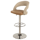Pneumatic Stool - Curved Round Back, Swivel, Black