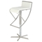 Swivel Stool - White Seat, Brushed Stainless Steel Base, Armless - CI-1627-AS-WHT