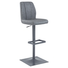 Pneumatic Stool - Stitched Back, Antique Gray