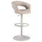 Adjustable Bar Stool - Open Back, Black - CI-1886-AS-TAN