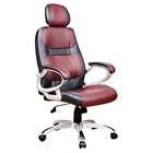 Office Chair - Headrest, Adjustable Height, Black and Burgundy