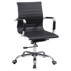 Office Chair - Adjustable Height, Faux Leather, Black