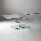 Lucas Two Piece Motion Glass Cocktail Table