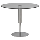 Round Hi-Low Dining Table - Chrome