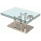 Theia Rectangular Cocktail Table with Motion Glass Top