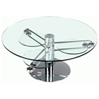 Minerva Round Cocktail Table with Retractable Arms