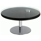Scylla Round Cocktail Table with Motion Glass Top