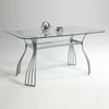 Aileen Rectangular Glass Dining Table