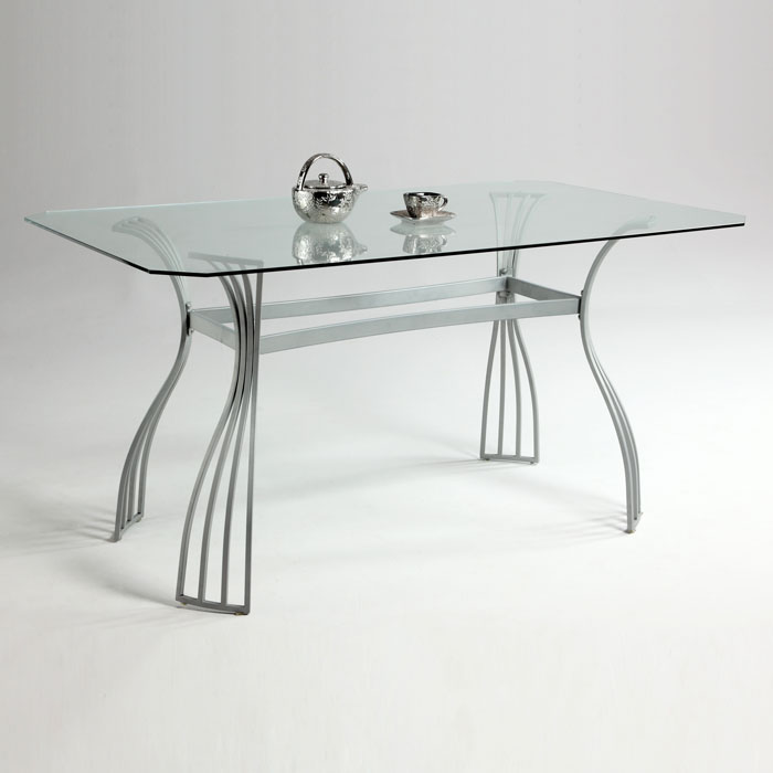 Aileen Rectangular Glass Dining Table - CI-AILEEN-DT