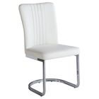 Alina Cantilever Side Chair - White, Chrome (Set of 4)