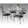 Ashtyn Round Beveled Glass Dining Set