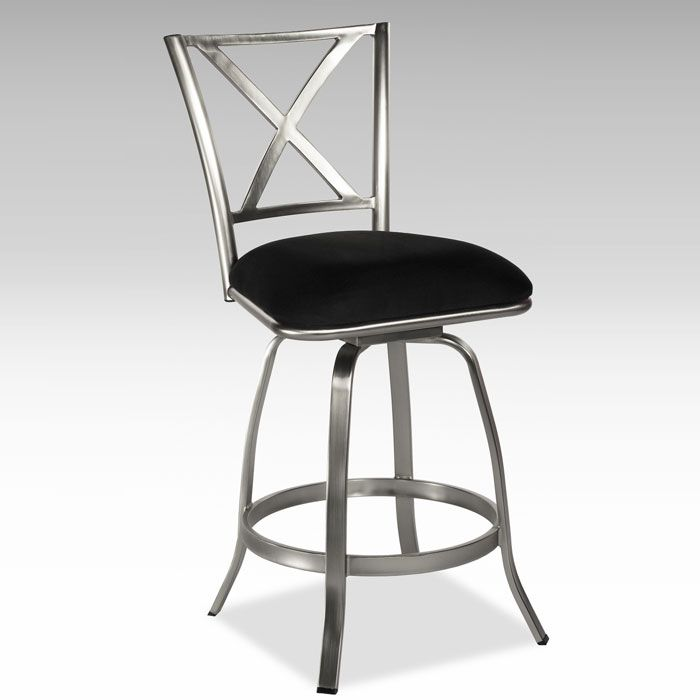 Audrey X-Back Swivel Counter Bar Stool