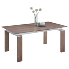 Brittany Pop-Up Extension Dining Table - Walnut