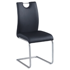 Cantilever Side Chair - Black, Brushed Nickel (Set of 4)