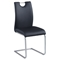 Cantilever Side Chair - Black, Brushed Nickel (Set of 4) - CI-CARINA-SC-BLK