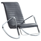 Carrera Rocky Lounge Chair - Black, Chrome