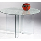Dorothea Sandwich Glass Top Dining Table