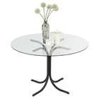 Cece Dining Table - Black, Clear