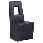 Chasity Upholstered Side Chair - Black (Set of 2)