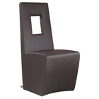 Chasity Upholstered Side Chair - Brown (Set of 2)