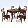 Cheri 5 Piece Dining Set with Expandable Table