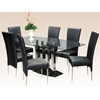 Cilla Dining Set with Black Marble Base