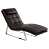Corvette Chaise Lounge - Bonded Leather, Brown