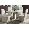 Cynthia Boat-Shaped Marble Top Dining Set