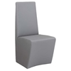 Cynthia Side Chair - Faux Leather, Gray (Set of 2)