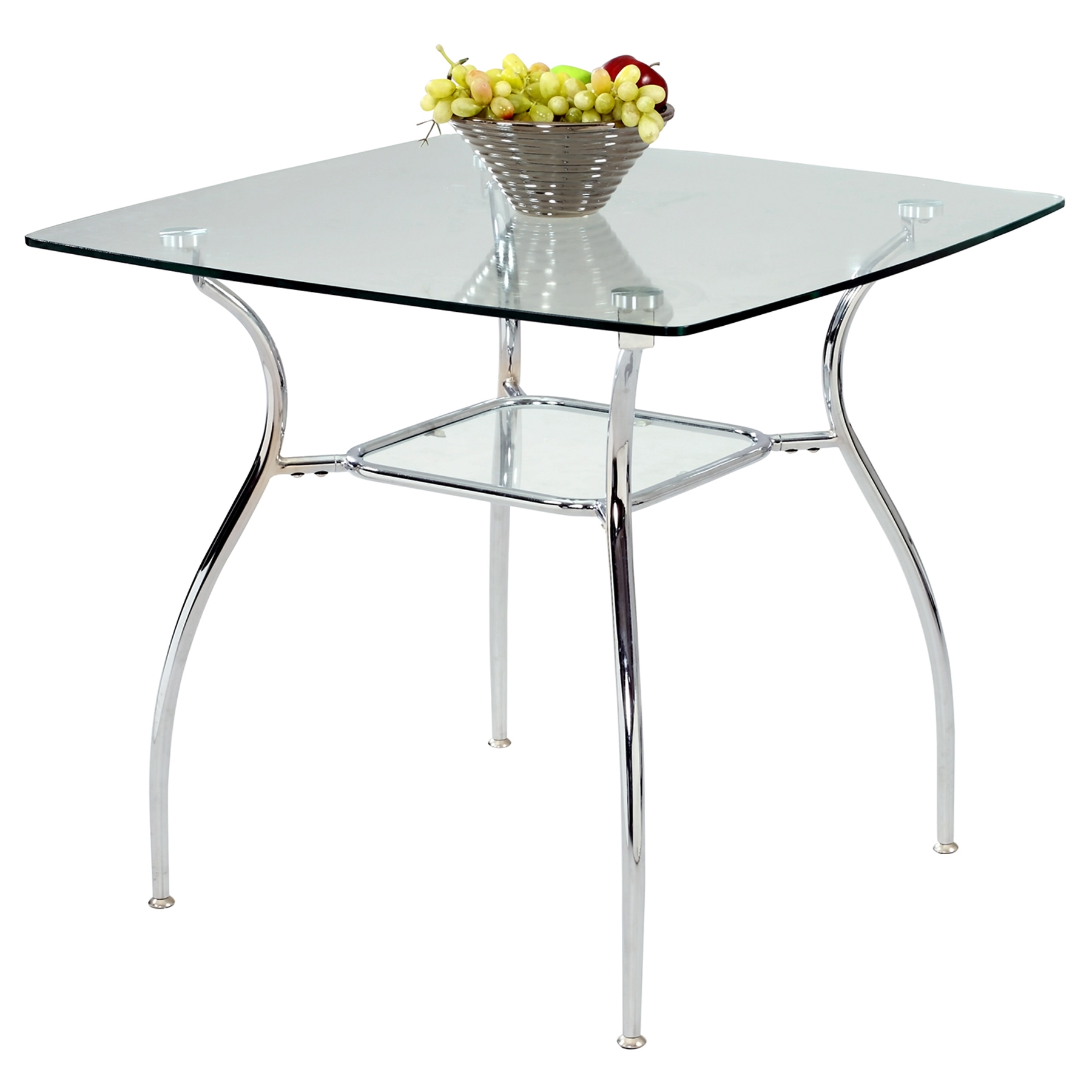 Daisy Square Glass Dining Table - CI-DAISY-DT