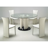 Deborah Round Clear Glass Dining Set