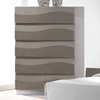 Delhi Contemporary Bedroom Chest - Glossy Gray, 5 Drawers