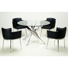 Dusty Contemporary Dining Set with Swivel Armchairs