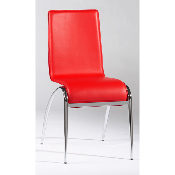 Elaine Arched Leg Contemporary Side Chair in Red