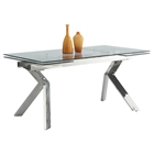 Ella Extendable Dining Table - Butterfly Legs, Tempered Clear