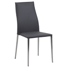 Elsa Stackable Side Chair - Contour Back, Gray (Set of 4)