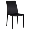 Fiona Stackable Side Chair - Black Faux Leather (Set of 4)