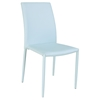 Fiona Stackable Side Chair - Blue Faux Leather (Set of 4)