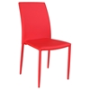 Fiona Stackable Side Chair - Red Faux Leather (Set of 4)