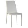 Fiona Stackable Side Chair - White Faux Leather (Set of 4)