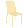 Fiona Stackable Side Chair - Yellow Faux Leather (Set of 4)