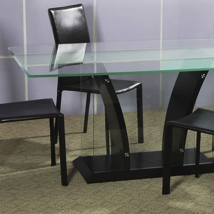 Flair Rectangle Glass Top Dining Set - CI-FLAIR-DT-5-PC-SET