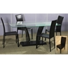 Flair Rectangle Glass Top Dining Set